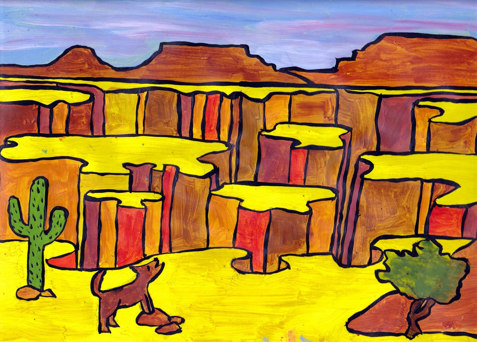 1600x1147 Grand Canyon Painting Lesson Simple Art Projects, Illusions