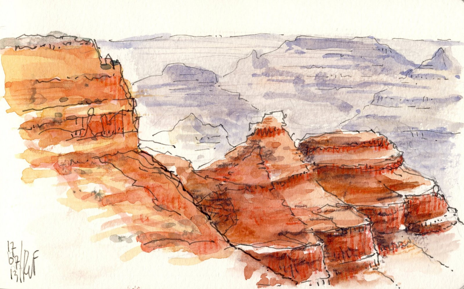 1600x997 Rene Fijten Sketches Grand Canyon !