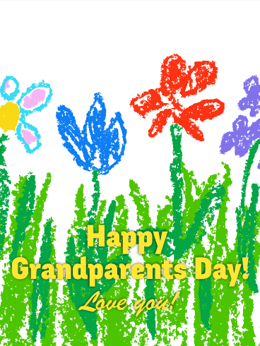 368x490 Drawing Flower Grandparents Day Card Birthday Amp Greeting Cards