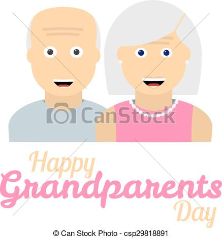 437x470 Grandparents Day Background With Grandparents Icons Over Eps