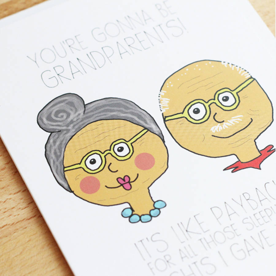 900x900 Grandchildren Hand Draw Cute Anniversary Card For Grandparents