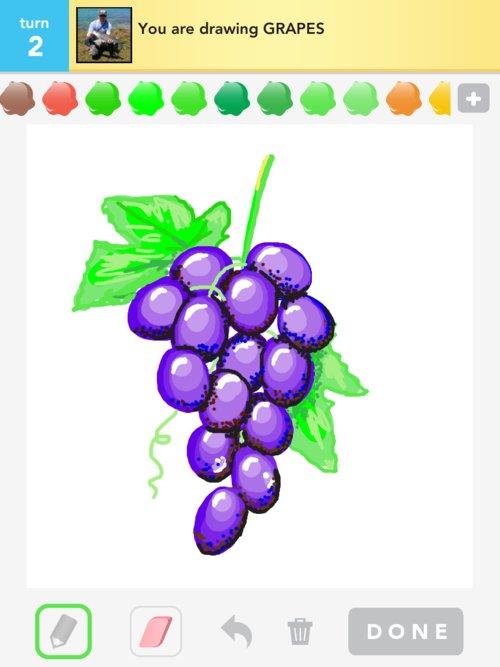 Grape Drawing At GetDrawings