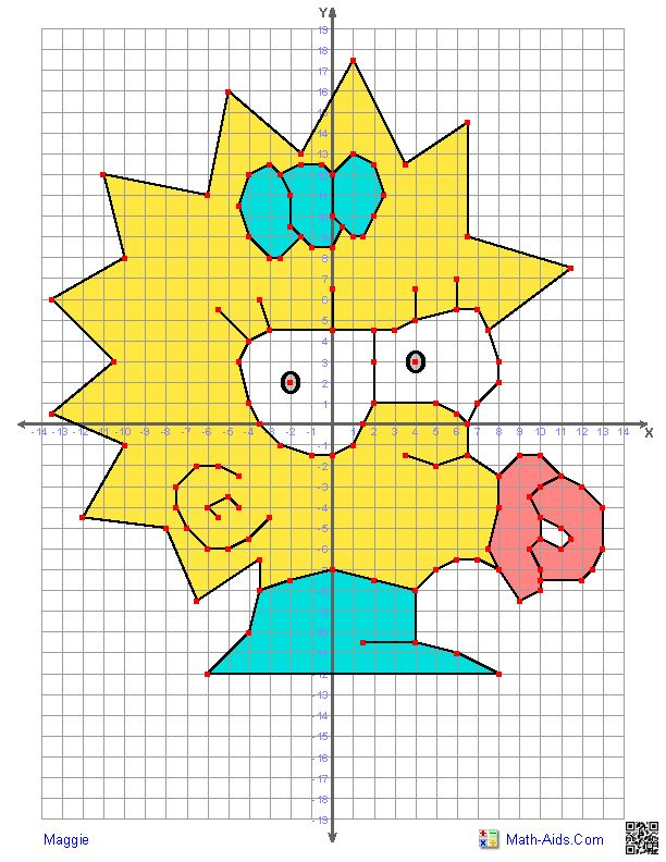 612x792 Character Graphing Worksheets For All Download And: Coordinate Graphing Mystery Picture Worksheets At Alzheimers-prions.com
