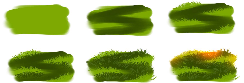 1527x522 How I Draw Grass By Ryky