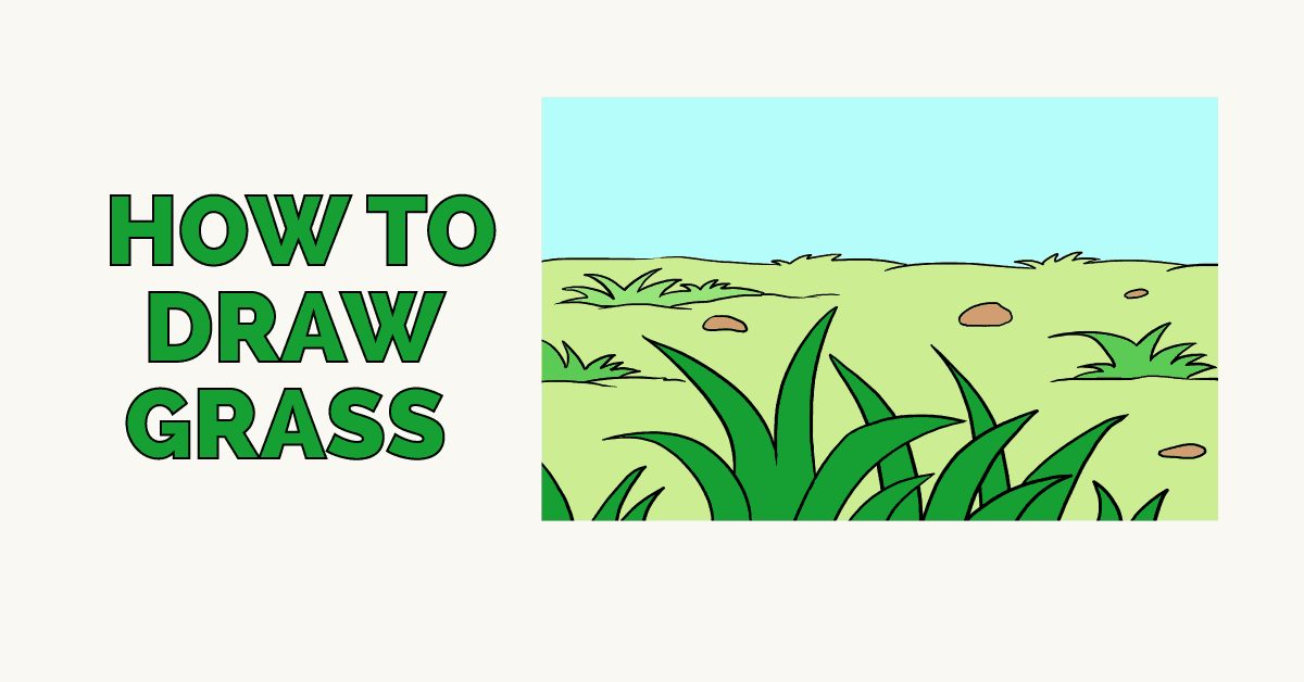 1200x628 How To Draw Grass Really Easy Drawing Tutorial