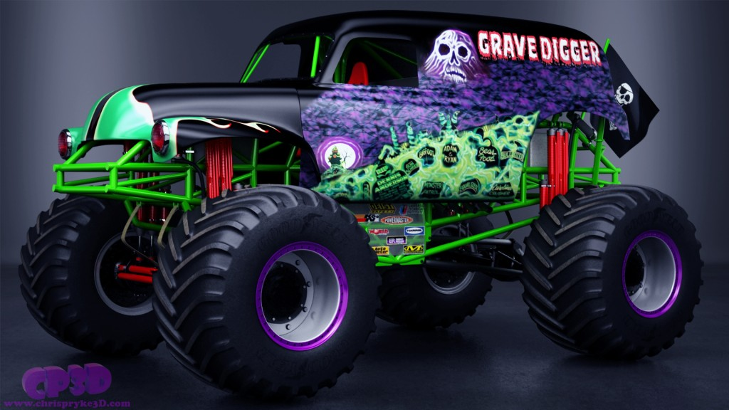 1024x576 Grave Digger Monster Truck By Chris Pryke