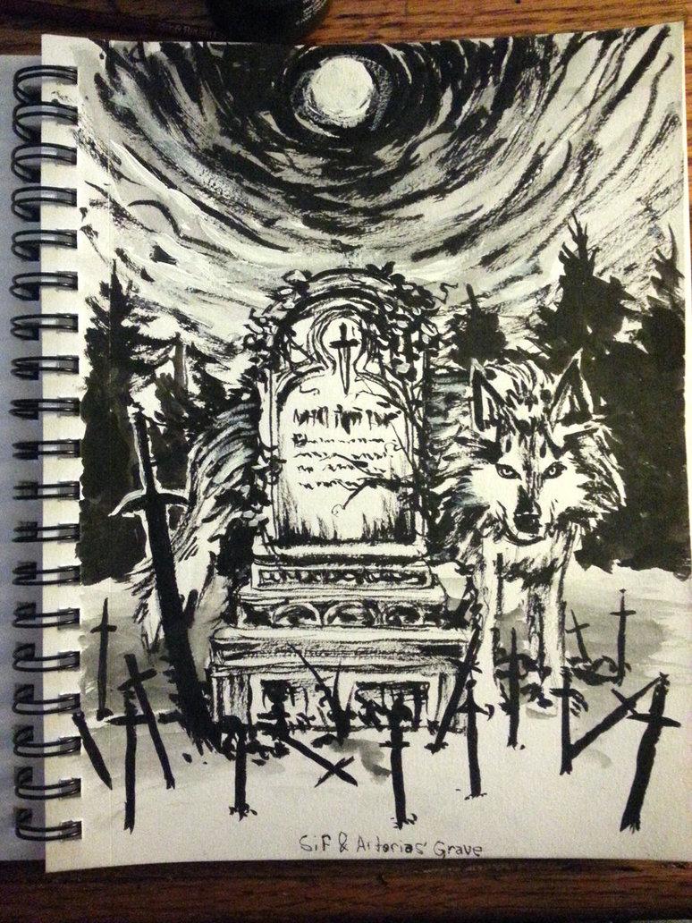 774x1032 Grey Greatwolf Sif And Artorias' Grave By Davidvaldez