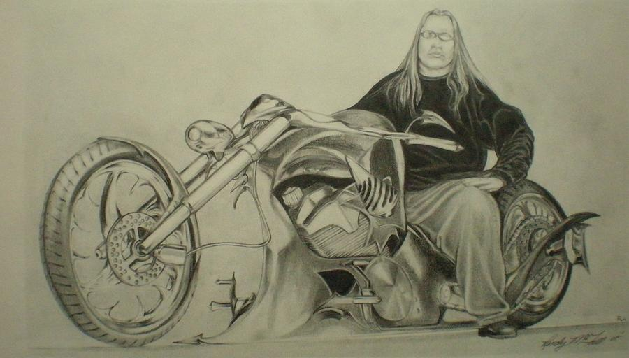 900x512 Tommy Grave Drawing By Randy Mcfall