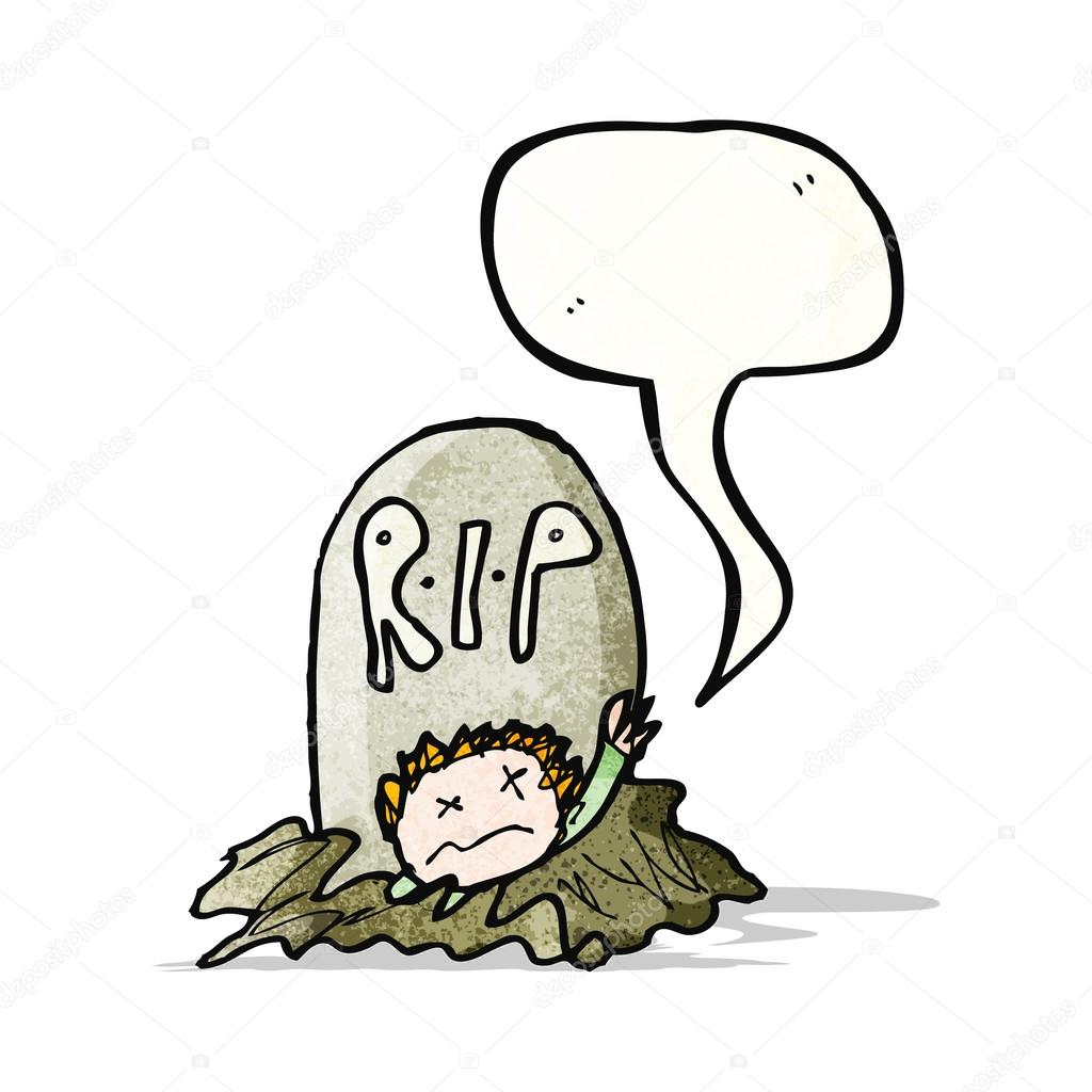 1024x1024 Child's Drawing Of A Zombie Rising From Grave Stock Vector