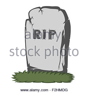 300x320 A Gray Gravestone With Grass And Rip Text And Scary Fingers Stock