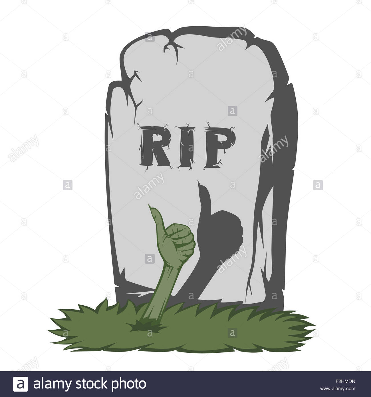 1300x1390 A Gray Gravestone With Grass And Rip Text And Scary Fingers