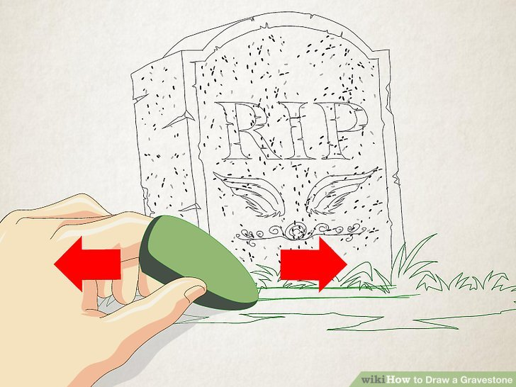 728x546 How To Draw A Gravestone 11 Steps (With Pictures)