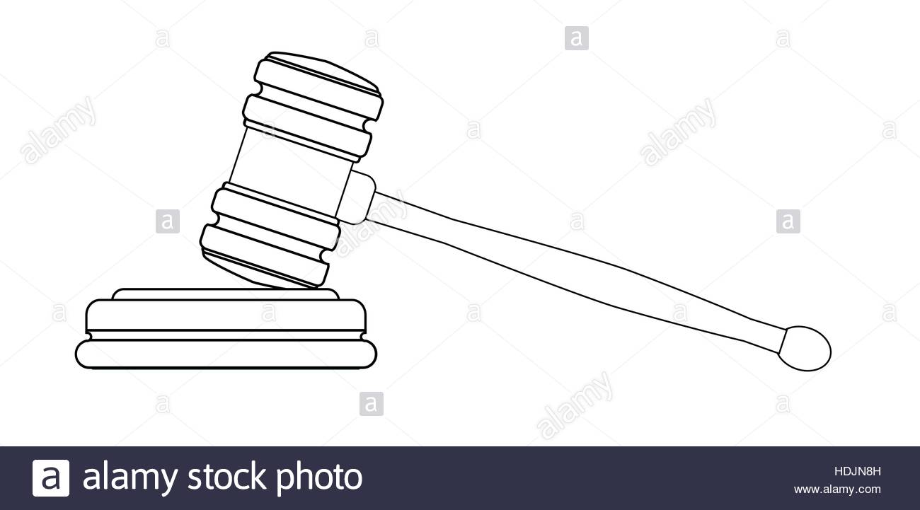 1300x721 Line Drawing Of A Gravel As Used By Judges In A Court Of Law