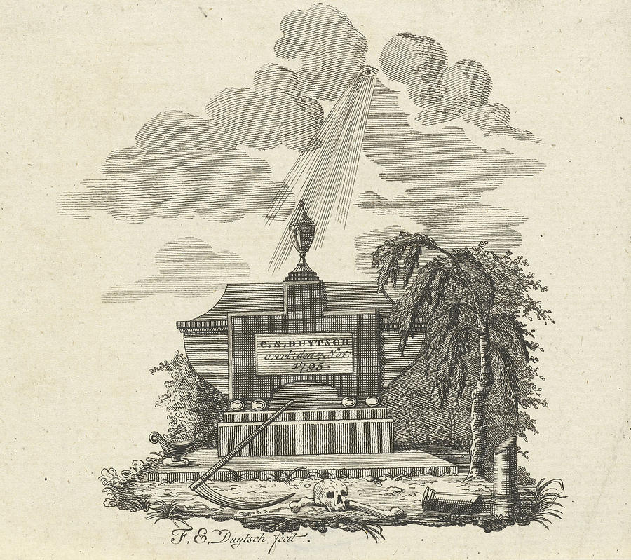 900x799 Gravestone For C. S. Duytsch Deceased November 7 Drawing By Artokoloro