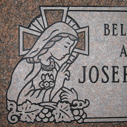 432x432 Inch Memorials, Michigan Granite Monuments, Grave Headstones