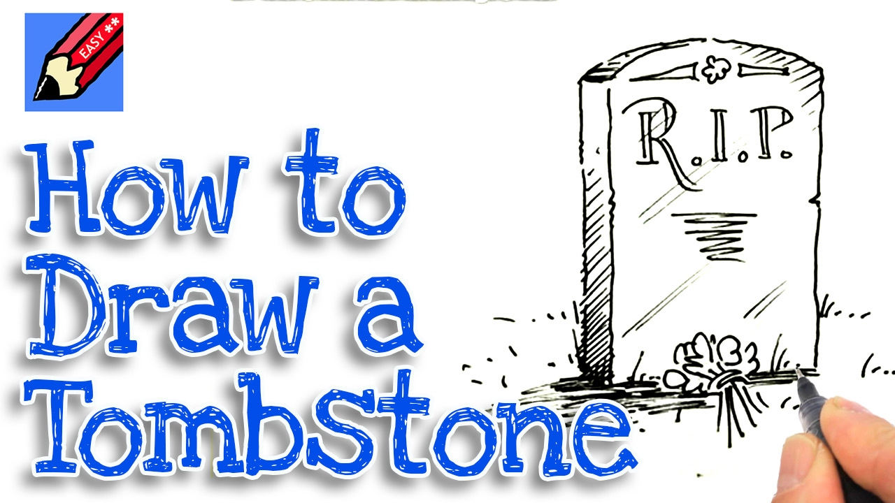 1280x720 Learn How To Draw A Tombstone Real Easy