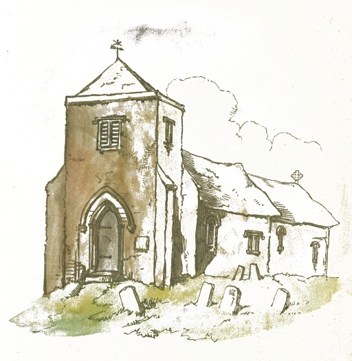 512x526 Church Amp Graveyard Drawing
