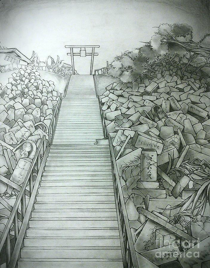 705x900 Graveyard Drawing By Chiaki Hagiwara