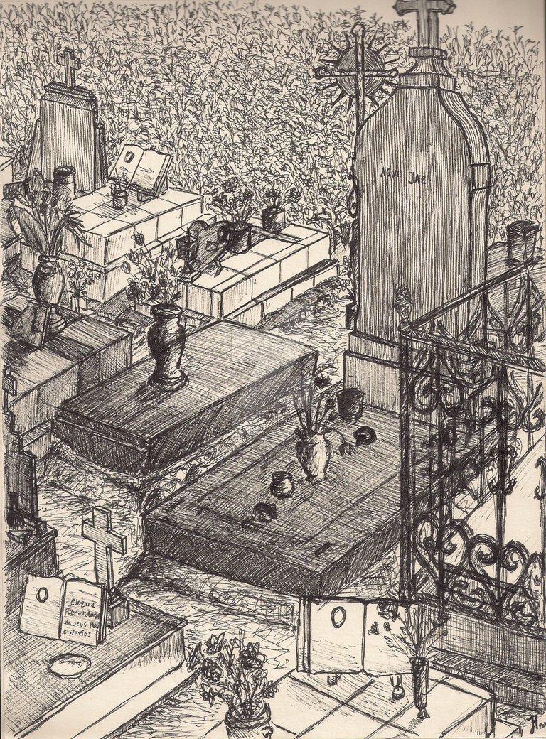 768x1040 Graveyard Drawing Ii By Artistsoul13