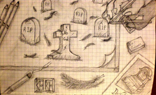 600x367 How To Draw A Graveyard By Dartedrose