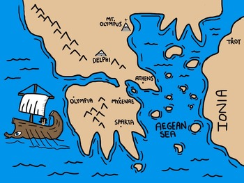 350x263 Fun hand drawn map of Ancient Greece for use in PowerPoints or & Greece Map Drawing at GetDrawings.com | Free for personal use Greece ...