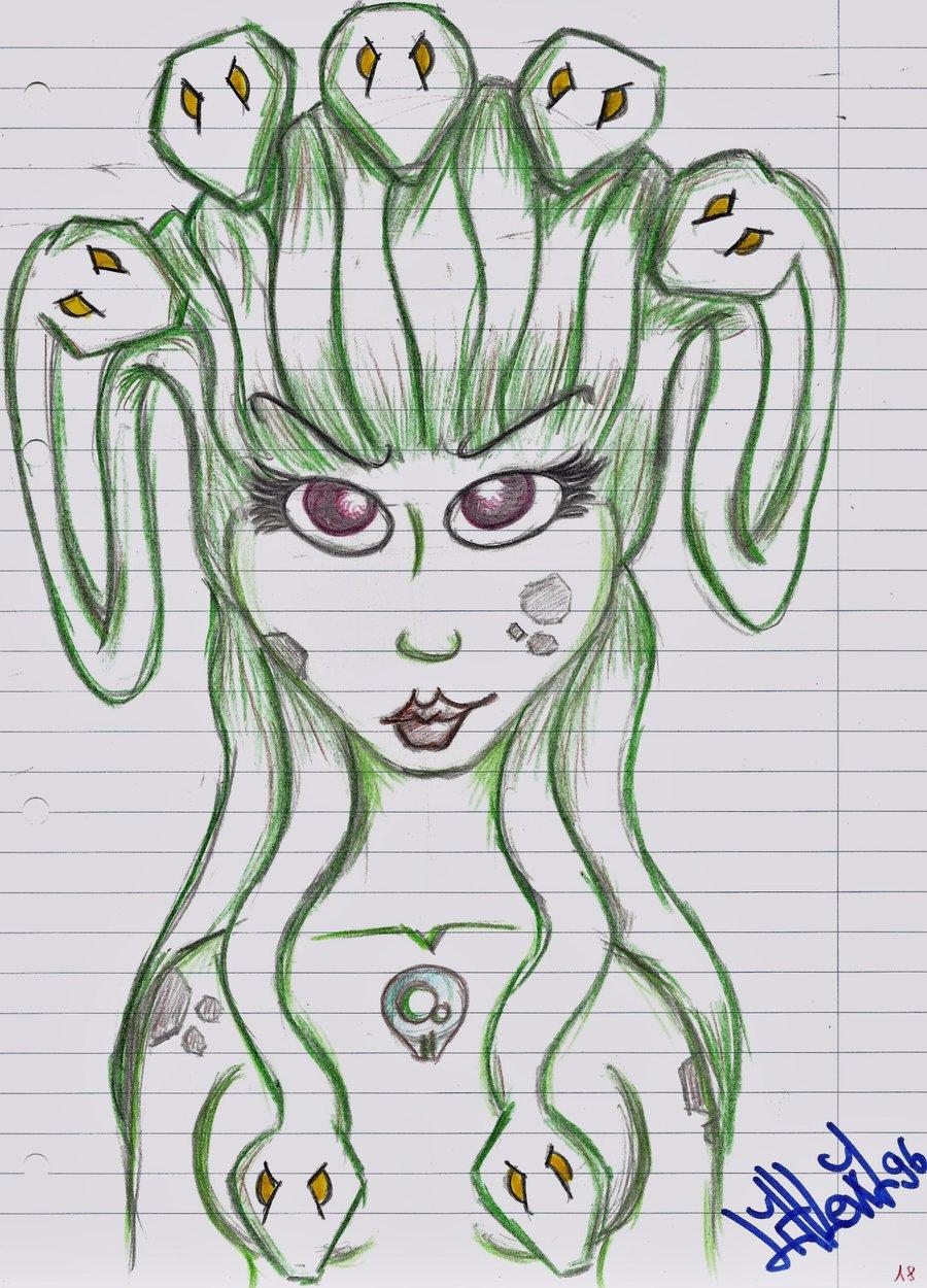 900x1250 Greek Mythology Attempt Medusa By Malazloba