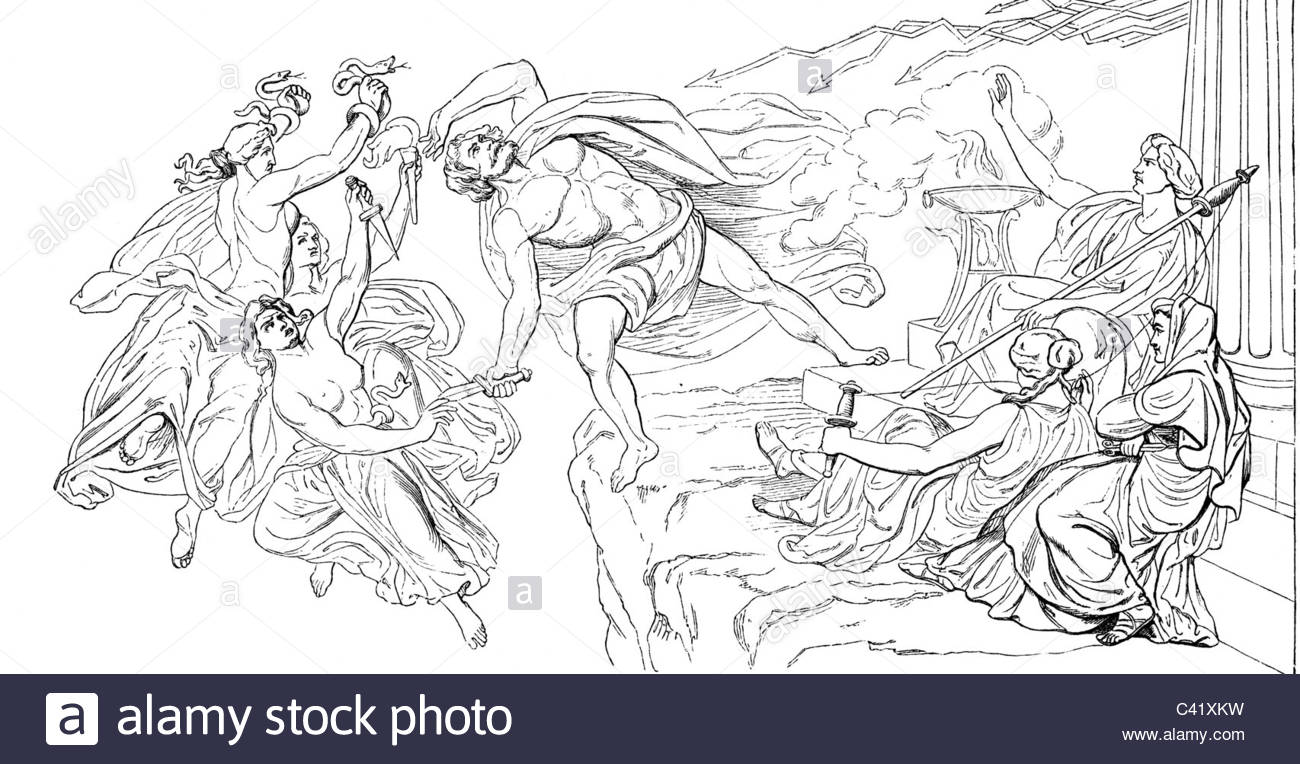 1300x764 Literature, Legends, Greek Mythology, Fall Of Tantalus From Mount