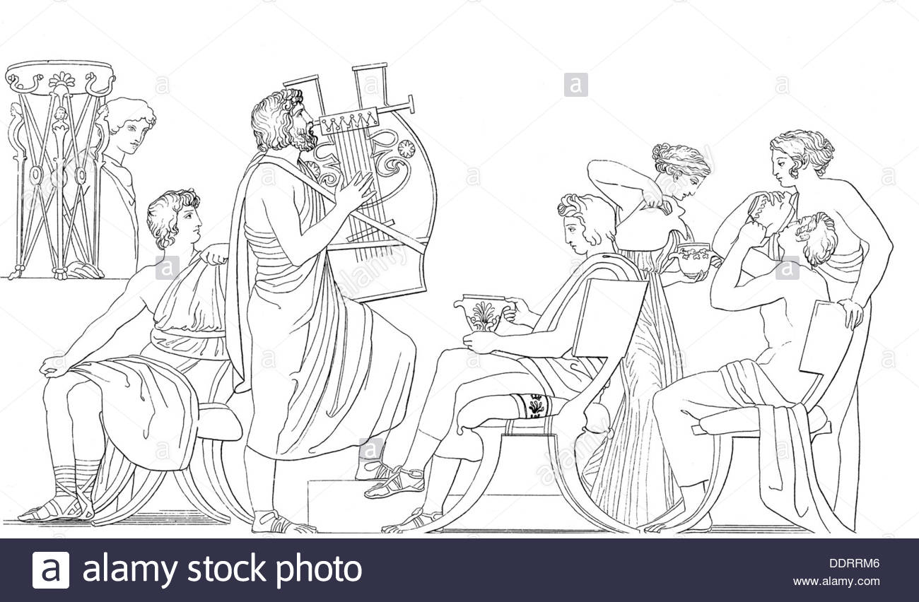 1300x852 Literature Greek Mythology Odyssey Phemios Singing In Front