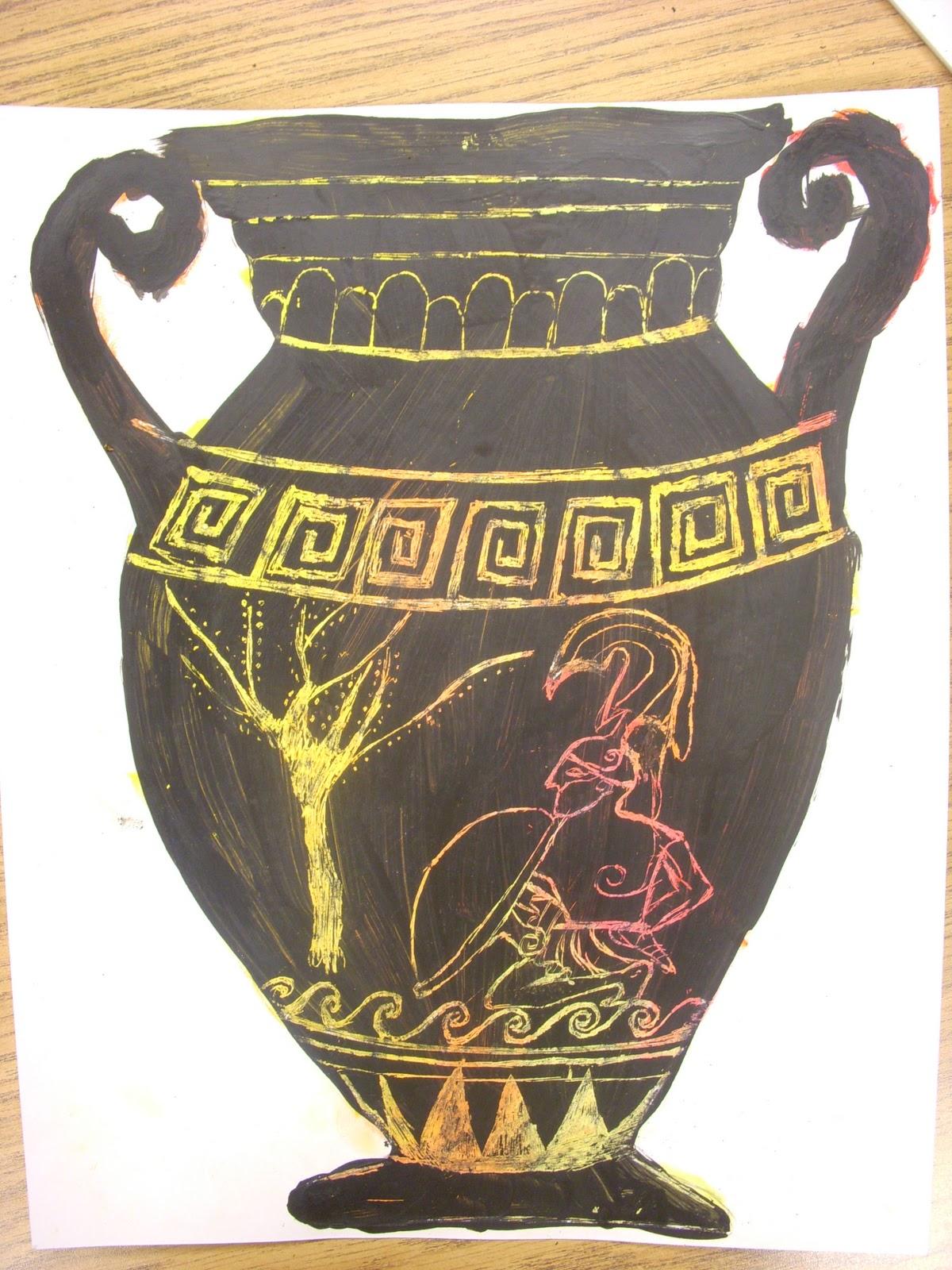 1200x1600 Artastic! Miss Oetken's Artists Going Greek! Scratch Into History