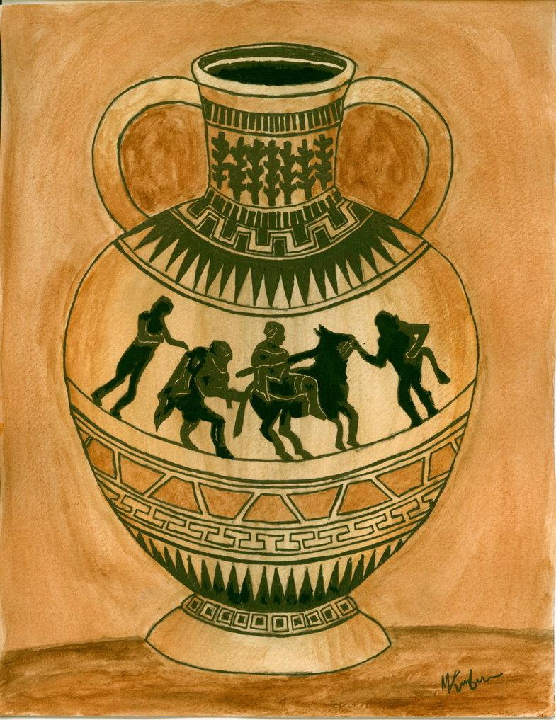 785x1017 Greek Vase By Mk12360