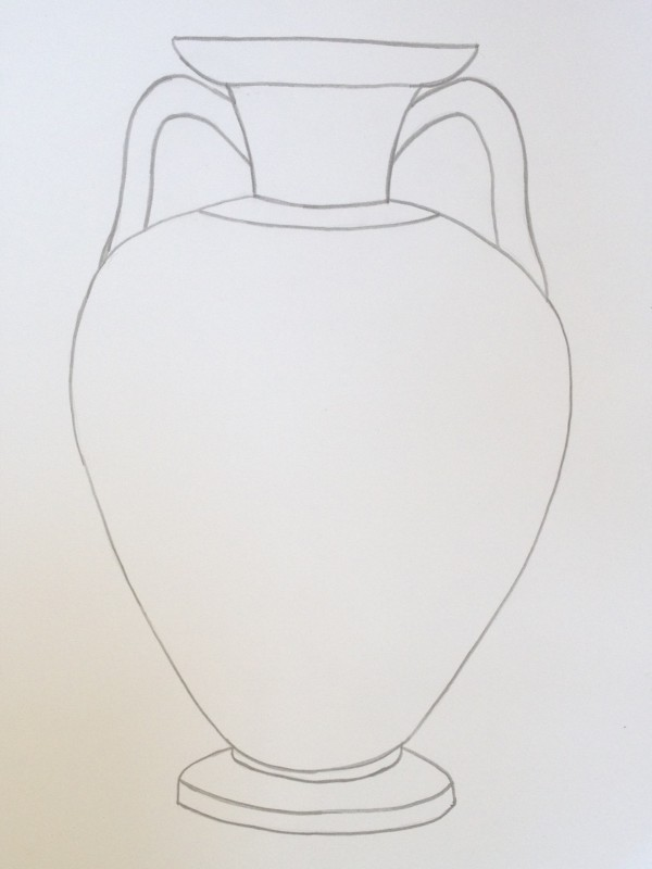 Easy Way To Draw A Vase Vase And Cellar Image Avorcor