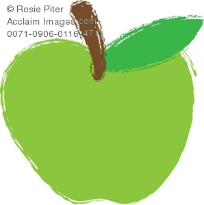 298x300 Drawing Of A Green Apple Royalty Free Clip Art Picture