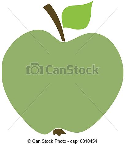 408x470 Green Apple Cartoon Character Clipart Vector