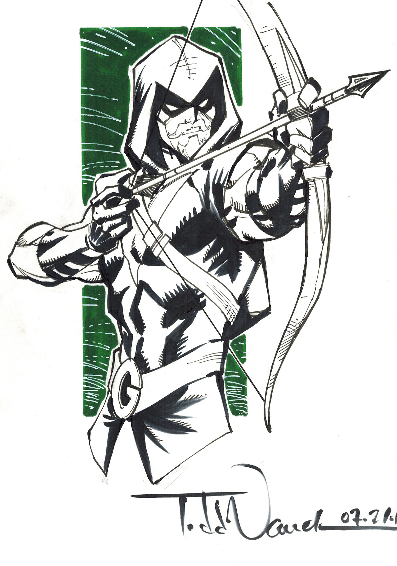 1280x1825 Green Arrow Commission By Todd Nauck Green Arrow