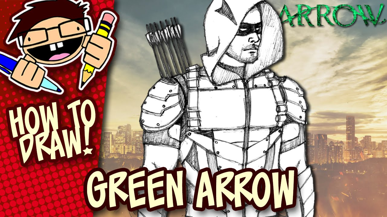 1280x720 How To Draw Green Arrow (Arrow Tv Series) Easy Step By Step