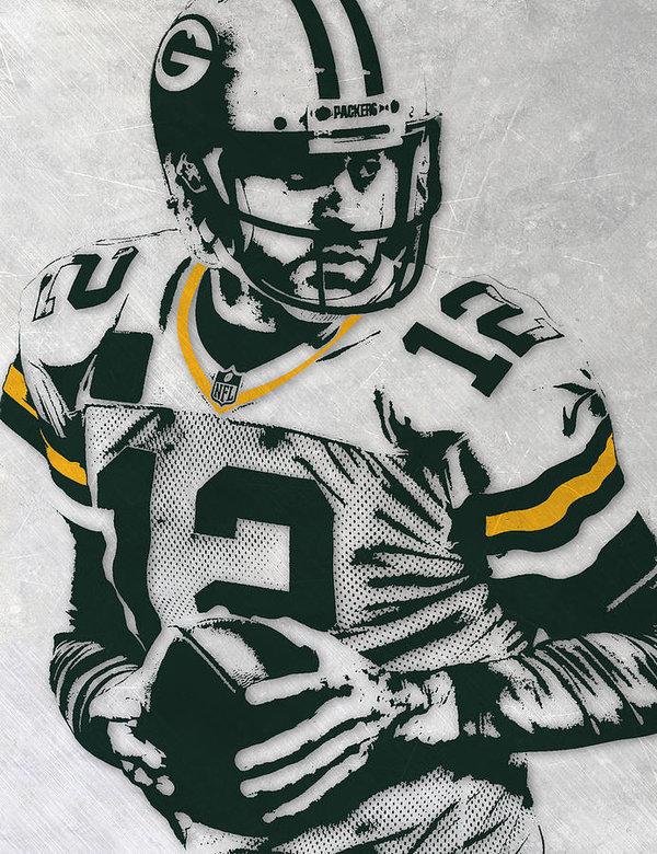 600x780 Aaron Rodgers Green Bay Packers Pixel Art 4 Art Print By Joe Hamilton