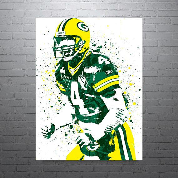 570x570 Brett Favre Green Bay Packers Sports Art Print Football
