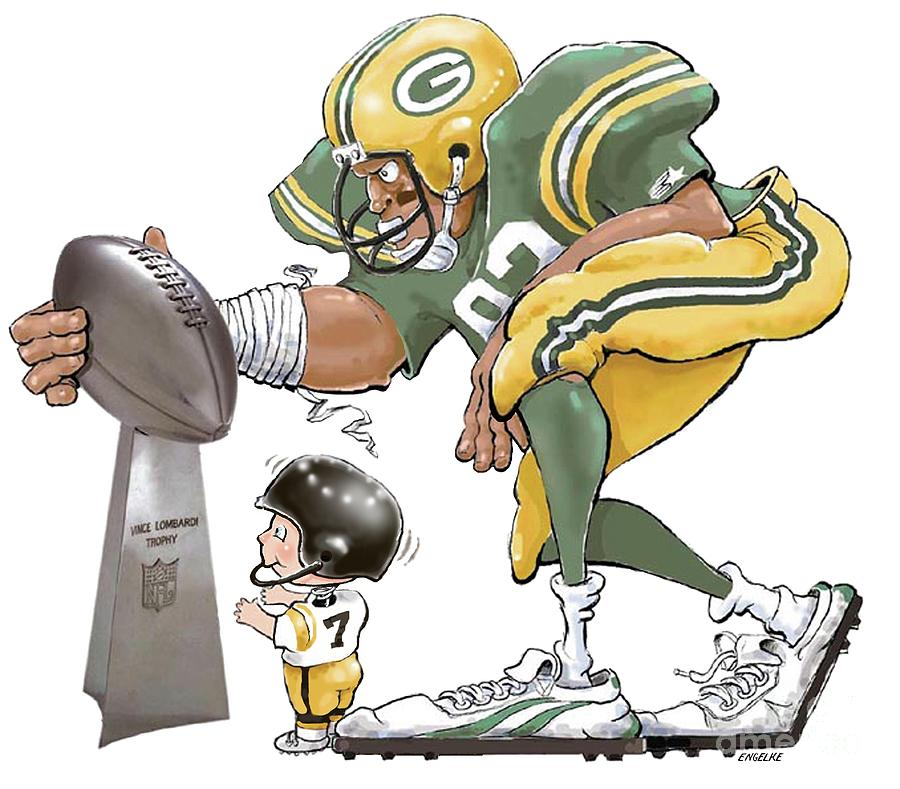 It is an image of Witty Green Bay Packers Drawing