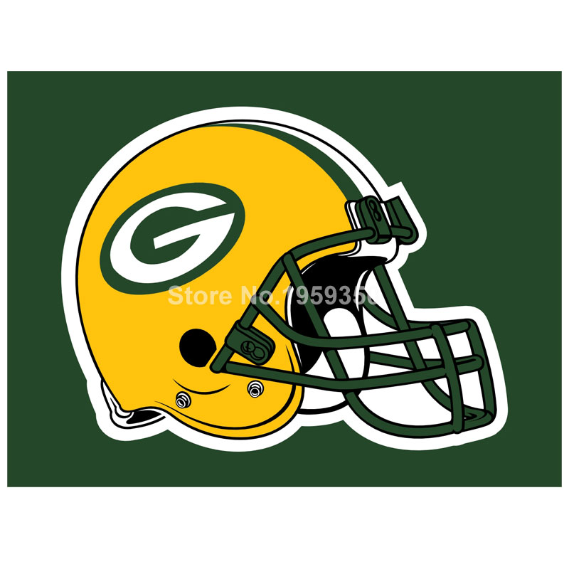 800x800 Green Bay Packers Helmet Car Flag 12x18 Inches 30x45cm Double