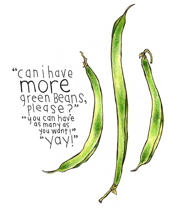 597x692 More Green Beans, Please! Spill Studio
