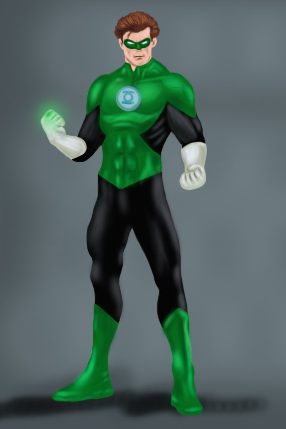 580x870 Learn How To Draw Green Lantern (Green Lantern) Step By Step