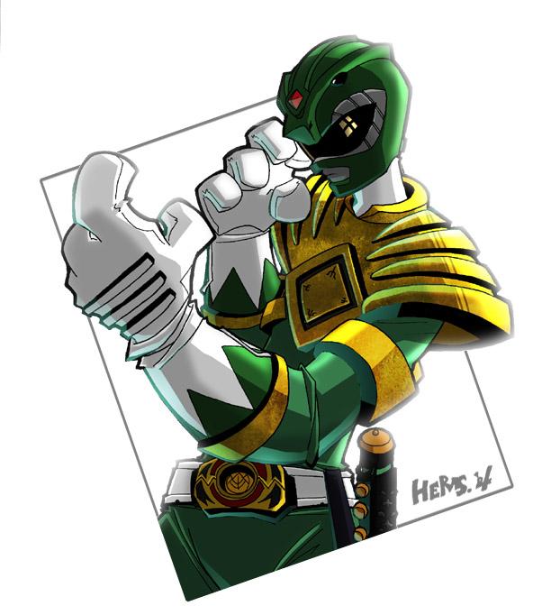 612x682 Go Green Power Ranger Go By Herms85