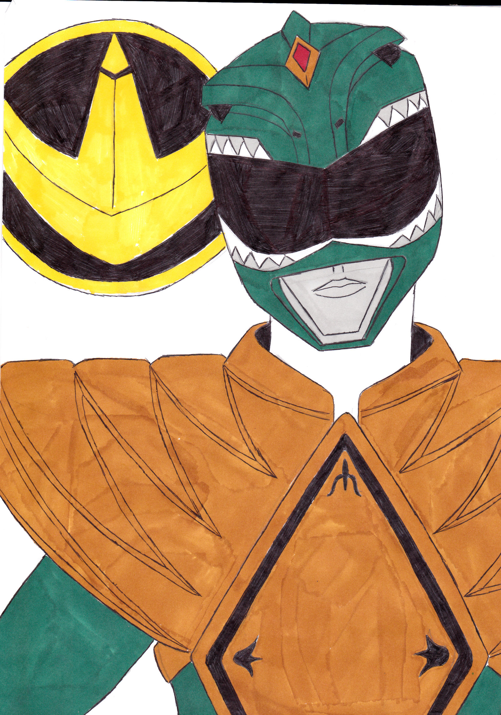 1600x2282 Mighty Morphin' Power Rangers 06 Green Ver. 1 By Septimusparker