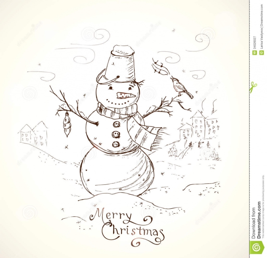 1024x987 Drawings For Christmas Cards With Pencil Christmas Greeting Card