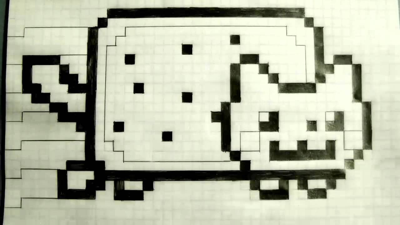 drawing on grid paper