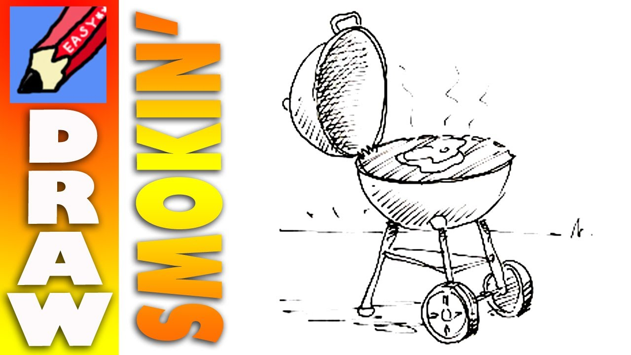 1280x720 How To Draw A Barbecue Real Easy