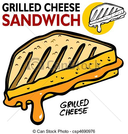 450x470 An Image Of A Grilled Cheese Sandwich. Clip Art Vector
