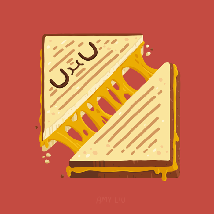 700x698 Grilled Cheese Sammy Illustration Grilled Cheeses