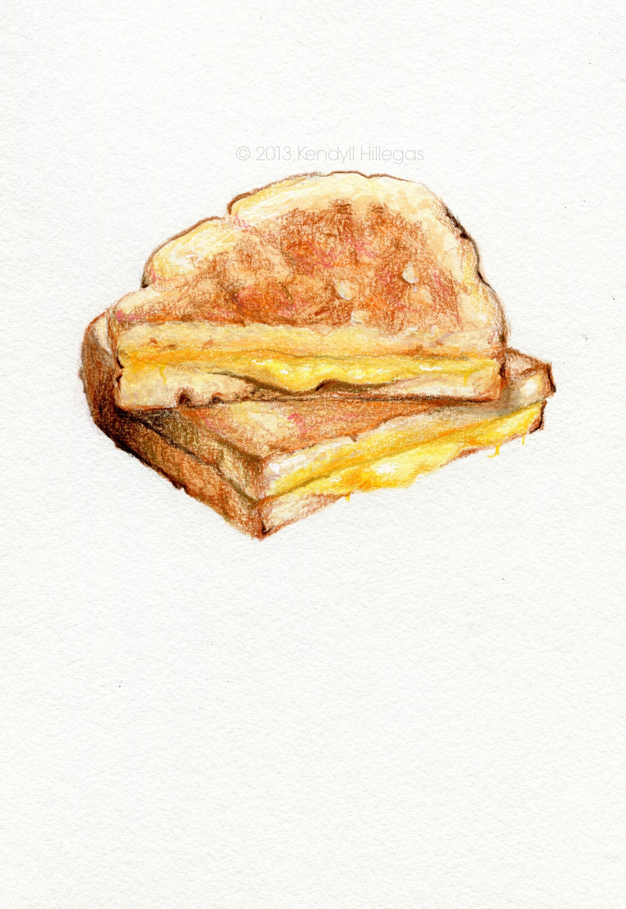 Grilled Cheese Drawing at GetDrawings.com | Free for personal use ...