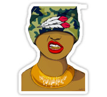 220x200 Grillz Stickers By Alexandria Rodriguez Redbubble
